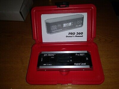 NIB SPI-TRONIC PRO 360 Digital Level Combination Protractor