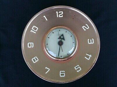 Vintage Telechron General Electric Copper Look Electric Wall Clock