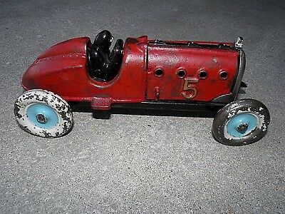 1920'S Antique Vintage Hubley #5 Racer Car, Rare, Cast Iron Toy, Authentic