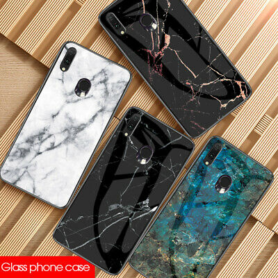 For Samsung Galaxy A70 A50 A30 2019 Soft Bumper Hard Cover Tempered Glass Case