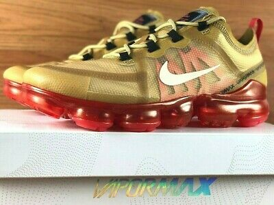 33e7c341af Nike Air Vapormax 2019 Running Shoes Ar6631-701 Club Gold / Light Creme New  Mens