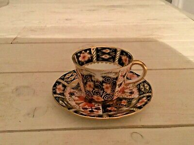 New Antique1933 Royal Crown Derby Traditional Imari 2451 Demitasse Cup & Saucer