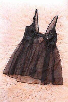 NWT Victoria's Secret Lingerie Babydoll Teddy Lace Sleep Pajama size 34B (D-642)