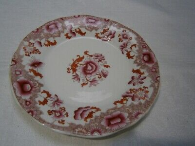 ANTIQUE c1800's PINK FLORAL MOST LIKELY MASON'S SIDE PLATE FOR DINNER SET No.190