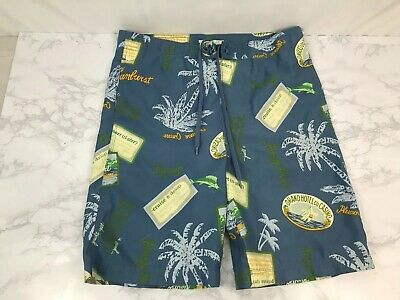 986bf3e0d8 Talbots Kids Swim Trunks Youth 16 Carribean Bathing Suit Blue Beach Shorts L