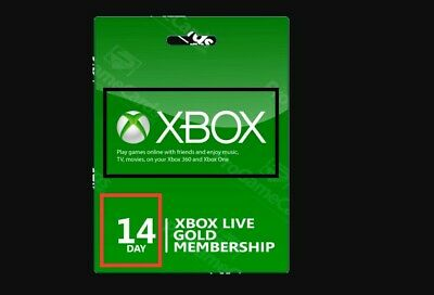 Xbox Live 14 Day 2 weeks Gold Membership Trial Code Very FAST EMAIL DELIVERY