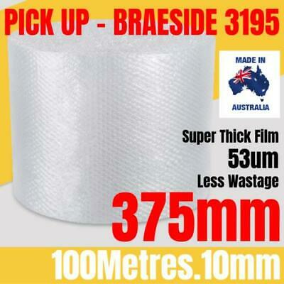 BUBBLE CUSHIONING WRAP 375mm x 100M | Clear 10mm Bubble Roll Bubble Wrap Roll