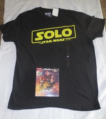 Solo a Star Wars Story 4K UHD Blu-Ray Target Exclusive 40-page Book & Shirt F/S