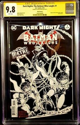 Dark Nights Batman Who Laughs #1 Cgc Ss 9.8 Sketch Variant Fabok Joker Harley Dc