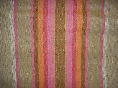 Vintage linen table runner with stripes