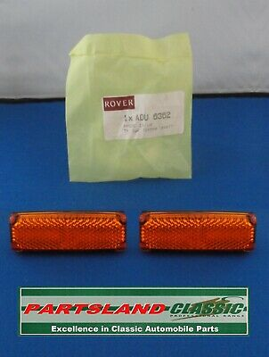 A Pair of Austin Rover Mini – Side Wing Amber Reflectors – ADU6362 Self Adhesive