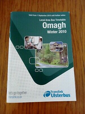 Omagh Area Translink Ulsterbus Northern Ireland Bus Timetable - Winter 2010