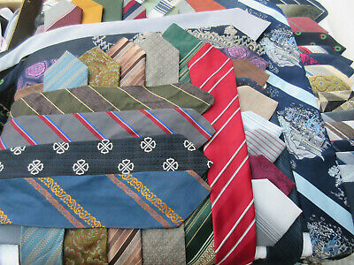 Wholesale Job Lot Bulk 100 Mixed Vintage Used Neck Ties