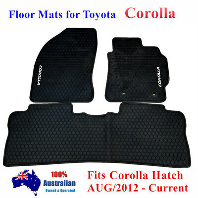 Rubber Car Floor Mats Customized for TOYOTA Corolla Hatch ZRE182 2012 - 2018