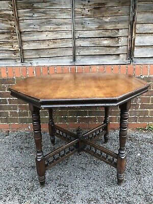 Antique Victorian Octagonal Table