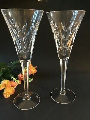 Waterford Crystal American Heritage Collection Lincoln Champagne Flutes Pair