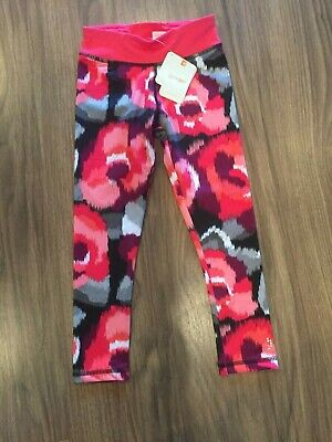 NEW GYMBOREE Gymgo Leggings Pants Girls Youth S Small 5 6 Pink Multi NWT
