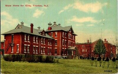 Early 1900'S. State Home For Girls. Trenton, Nj Postcard Db7