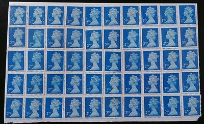 50 BLUE 2nd CLASS SECURITY STAMPS 2ND - UNFRANKED OFF PAPER., WITH GUM FV £29@#