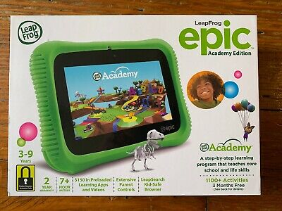 GREEN LEAPFROG EPIC ACADEMY EDITION Kids Tablet - NEEDS ACTIVATION