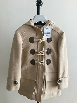 Girls Next Beige Duffle Coat Age 7 Years Brand New With Tags Rrp: £37
