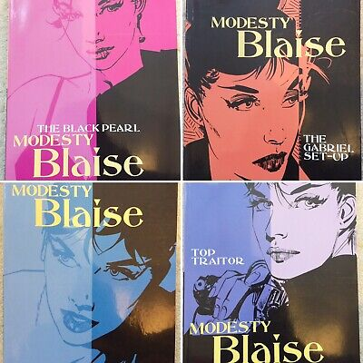 Modesty Blaise Graphic Novel Rare Titles 4 Book Set Peter O'Donnell Jim Holdaway
