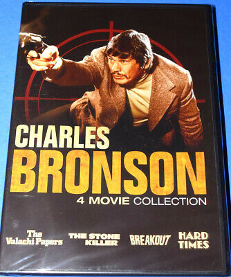 New Charles Bronson 4 Movie Collection Action Adventure Drama 2 Disc Dvd Set