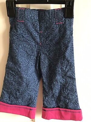 BNWOT Mothercare Trousers/ Jeans. Grils. Age 6 - 9 Months. Blue Pattern