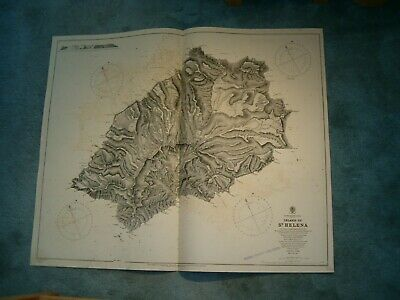 Antique Admiralty Chart 1771 SOUTH ATLANTIC OCEAN - ISLAND OF ST HELENA 1879 edn