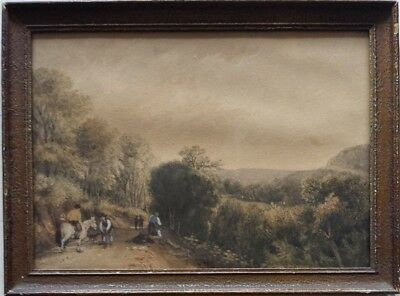 Detailed British mid-19th century Watercolour (not oil) painting