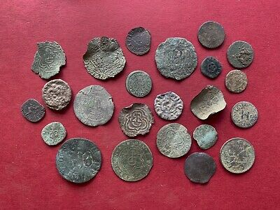 Large Group Of Medieval To Post Medieval Jettons & Tokens & Farthings From UK
