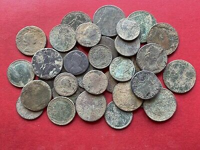 38 Old English Milled Coins As Dug UK
