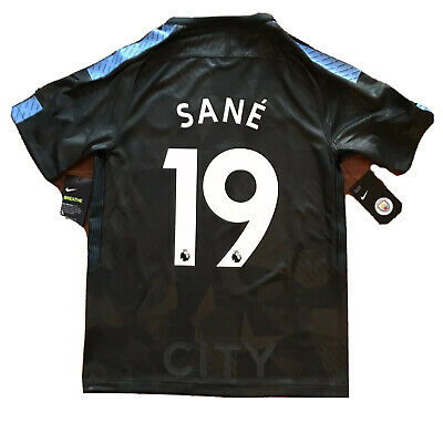 be5cbac3004 2017/18 Manchester City Third 3rd Jersey #19 Leroy Sané Small Nike Germany  NEW