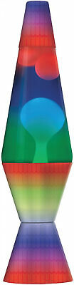 Rainbow Lava Lamp 14.5 Inches Decal Base Relaxing Soft Light Home Dorm Lighting