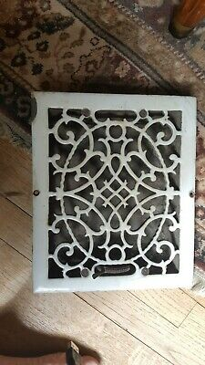 19Th C Enameled Cast Iron Louvered Floor Register