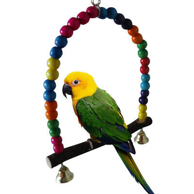 Parrot Swing Bells Budgie Small animals Bird Toy Cage Toys Finch Accessories