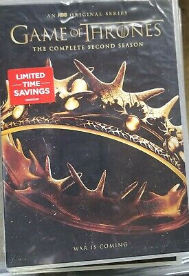 Game of Thrones: The Complete Second Season (DVD, 2017, 5-Disc Set)