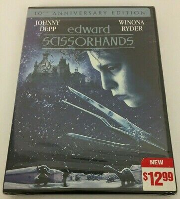 Edward Scissorhands DVD 10th Anniversary Edition New and Sealed