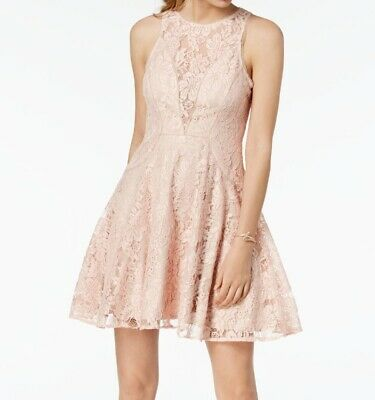 Xscape NEW Blush Pink Womens Size 6P Petite Floral-Lace Sheath Dress $198 035
