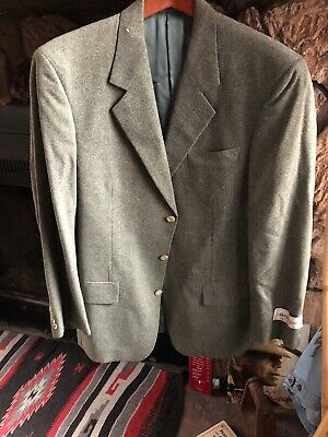 Hand Tailored in USA OLIVE TEEED Sport Coat Jacket  40R NWT