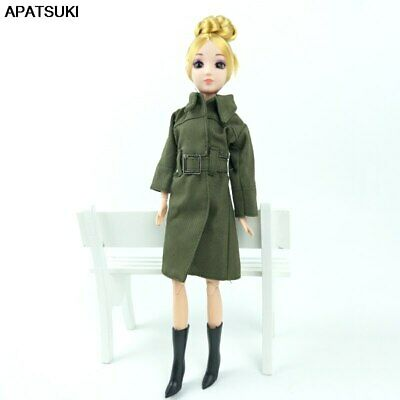 Office Lady Fashion Coat For 1/6 Doll Clothes & Shoes Outfits For 11.5in Doll