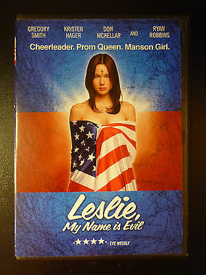 LESLIE, MY NAME IS EVIL Movie POSTER 27x40 Gregory Smith Kristen