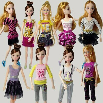 5pcs/lot Pretty Dress For 1/6 Doll Clothes Fashion Outfit For 11.5in Dolls Dress