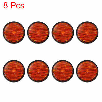 8pcs 5mm Red Plastic Screw Mount Reflective Warning Reflector for Motorcycle