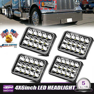 4PC LED Headlights Bulb for Kenworth T400 T600 T800 W900B W900L Classic 120/132