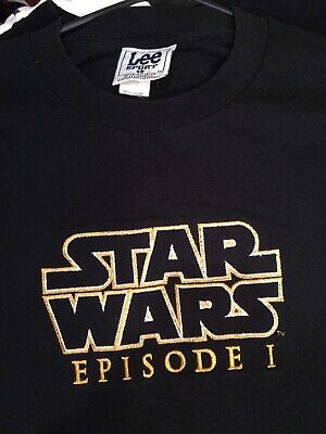 b08c49f36cbc49 Vintage 90s Star Wars Episode I Phantom Menace Promo T-shirt L Embroidered