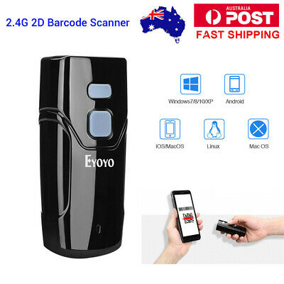 Wireless Bluetooth & 2.4G 2D Barcode Scanner Bar Code Reader for IOS Android PC