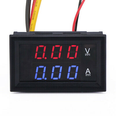 LCD Digital Volt Voltage Current Power Meter Gauge Ammeter Voltmeter DC 100V 10A