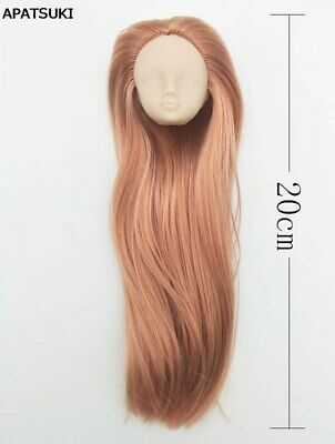 Kahki Color Hair DIY Doll Head For 1/6 BJD Doll Practicing Head Without Makeup