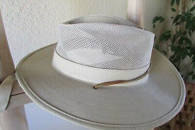 9f6dabb6 New Dorfman Pacific Co Light Gray Cotton Nylon Mesh Summer Safari Air Flow  Hat